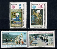Turkish Cyprus 1980/1981 EUROPA  Mi 83/84**, 98/99**, Yv 73/74**, 88/89** - Chypre (Turquie)