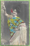 Espanã - Fornarina - Dancarina - Bordado - Singer - Carte Brodée - Embroidery - Embroidered - Dancer - Bestickt