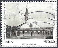 Italia, 2010 Basilica Di Motta Di Livenza, 0,60 €  # Sassone 3155 - Michel 3365 - Scott 2989  USATO - 6. 1946-.. Repubblica