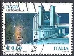Italia, 2009 Europa, 0,60 €  # Sassone 3085 - Michel 3294 - Scott 2926  USATO - 6. 1946-.. Repubblica