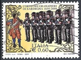 Italia, 2009 Granatieri Di Sardegna, 0,60 €  # Sassone 3078 - Michel 3287 - Scott 2918  USATO - 6. 1946-.. Repubblica