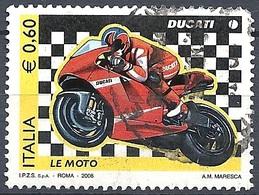 Italia, 2008 Moto Ducati, 0,60 €  # Sassone 3041 - Michel 3250 - Scott 2881  USATO - 6. 1946-.. Repubblica