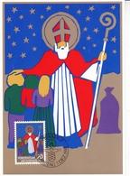 Liechtenstein 1981 Christmas Set Of 3 Maximum Cards With Original Envelope - Maximum Cards