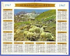 Calendrier PTT 1967 - Alpage ( Moutons - Montagne ) - Tamaño Grande : 1961-70