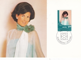 Liechtenstein 1982 Liba 82 Stamp Exhibition Set Of 2 Maximum Cards With Original Envelope - Maximum Cards