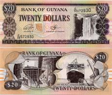 GUYANA       20 Dollars       P-30f       ND (2016)       UNC - Guyana