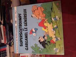 Disque  Vinyl 33 Tours  Superschtroumpfs Et  Gargamel Le Genereux  Peyo 2 Histoires De Shtroumpfs - Kinderlieder