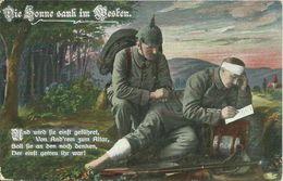 """4 AKs / CPAs 1. Weltkrieg Sedan """"Die Sonne Sank Im Westen"""" Feldpost 1915 # - Weltkrieg 1914-18"""