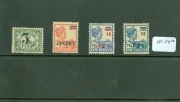 SURINAME SERIE 111 - 114 ONGEBRUIKT MET PLAKKERREST - Suriname ... - 1975