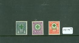 SURINAME SERIE 127 - 129 ONGEBRUIKT MET PLAKKERREST - Suriname ... - 1975