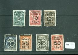 SURINAME SERIE 130 - 136 ONGEBRUIKT MET PLAKKERREST - Suriname ... - 1975