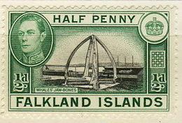 Falkland Islands 1937 Whale Jawbones (Centennial Monument) Teeth - Falkland
