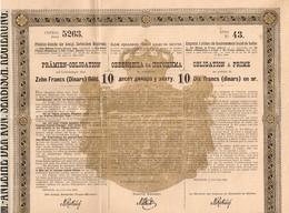Obligation Ancienne - Emprunt à Primes Du Royaume De Serbie - Titre De 1888 - Actions & Titres