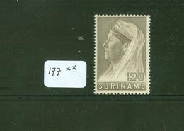 SURINAME SERIE 177 ONGEBRUIKT MET PLAKKERREST - Suriname ... - 1975