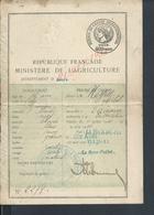 PERMIS DE CHASSE DE Mr MEYRET MICHEL DIZIMIEU FAIT À LA TOUR DU PIN  : - Cartes