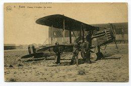 CPA - Carte Postale - Belgique - Evère - Champ D'Aviation - Un Avion - 1925 (M8360) - Evere