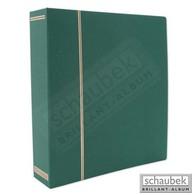 Schaubek Ds1054 Cloth Screw Post Binder Green - Large Format, Black Pages