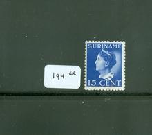 SURINAME SERIE 194 ONGEBRUIKT MET PLAKKERREST - Suriname ... - 1975