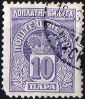 MONTENEGRO, SEGNATASSE, POSTAGE DUE STAMP, 1907, 10 Pa. FRANCOBOLLO USATO Mi. P20,  Scott J20, YT T21 - Montenegro