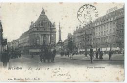 Bruxelles - Brussel - Place Brouckère - Nels Série 1 No 29 - 1902 - Places, Squares