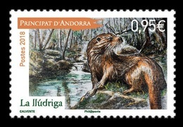 Andorra (FR) 2018 Mih. 840 Fauna. Otter MNH ** - Französisch Andorra