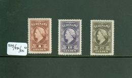 SURINAME SERIE 239 - 240 - 241 ONGEBRUIKT MET PLAKKERREST - Suriname ... - 1975