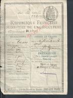 PERMIS DE CHASSE DE Mr PINAULT JOSEPH SAINT GENON FAIT À CHÂTEAUROUX VEND EN ETAT : - Cartes