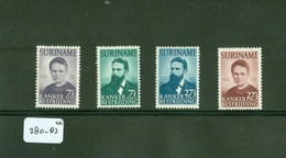 SURINAME SERIE 280 - 283 ONGEBRUIKT MET PLAKKERREST - Suriname ... - 1975