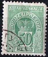 MONTENEGRO, SEGNATASSE, POSTAGE DUE STAMP, 1907, 25 Pa. FRANCOBOLLO USATO Mi. P22,  Scott J22, YT T23 - Montenegro