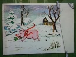 Kov 8-145 - New Year, Bonne Annee, Cochon, Pig, PORC, CLOVER, TREFLE - Anno Nuovo