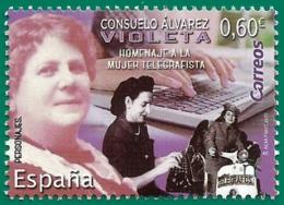 España. Spain. 2019. Consuelo Álvarez, Violeta. Homenaje A La Mujer Telegrafista - 1931-Heute: 2. Rep. - ... Juan Carlos I