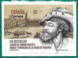 España. Spain. 2019. Efemérides. Hernán Cortés. Mexico. Fundacion De Veracruz - 2011-... Nuevos & Fijasellos