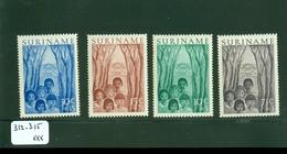SURINAME SERIE 312 - 315 POSTFRIS * C.W.  EURO 28.00 - Suriname ... - 1975