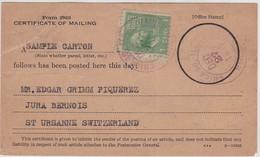 CERTIFICATE OF MAILING - CHICAGO / 27 DEC. 1939 - Briefe U. Dokumente