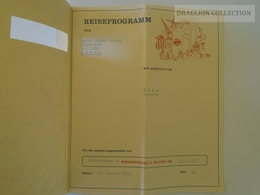 ZA140.1  KUONITOURS Switzerland Reiseprogramm Basel Wien Austria 1959 - Europe