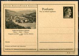 """German Empires 1942 Kopfbild A.Hitler GS Mi.Nr.P307/42-20-1-B20""""Lernt Deutschland Kennen!-Heilbad Bad Brückenau,."""" 1 GS - Enteros Postales"""