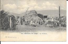 """Hamoir """"Environs De Liège"""" N°3902 - La Moisson - Machine à Battre à Vapeur - Ed: Heinzt-Jadoul - Circulé - 2 Scans - Hamoir"""