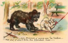 CP. Illustrateur Germaine   Bouret.  Petits Chiens - Bouret, Germaine