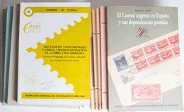 (1980ca). Interesante Conjunto De Libros De Divulgación Filatélica Y Catálogos De Diversas áreas, Destacando El 6 CUARTO - Spain