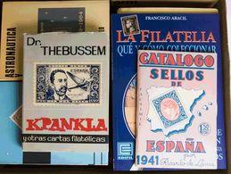 (1990ca). Conjunto De Cuatro Catálogos O Libros De Enteros Postales De España (Angel Láiz, Dieter Nentwich Y Javier Padí - Spain