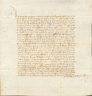Sobre . 1440. Documento En Folio Menor Fechado En Daroca, El 23 De Noviembre De 1440, Trata Sobre Diferentes Cuestiones  - Spain