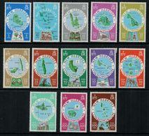 New Hebrides // 1960-1980 // 1977-78 // Série Courante, Carte Des îles Timbres Neufs** MNH No. Y&T 508-520 - Légende Anglaise