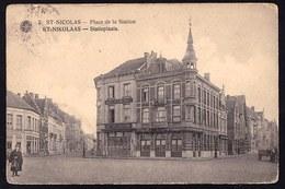 SINT NIKLAAS WAAS - STATIEPLAATS - Zicht Op Hotel De Arcades - Niet Courant ! - Sint-Niklaas