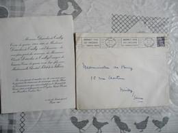 TOULON LE 27 FEVRIER 1954 MONSIEUR CLAUDE DARODES DE TAILLY AVEC MADEMOISELLE CHANTAL PETIT DE LA VILLEON - Mariage