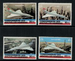 Nouvelles Hébrides // 1960-1980 // 1978 //  2 Années Des Vols Supersoniques Timbres Neufs** MNH No. Y&T 527-530 - Légende Française