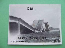KALININGRAD 1952 Destroyed Berlin Bridge. Russian Photo. Russia - Russia
