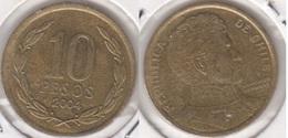 Cile 10 Pesos 2004 (Normal Rim) KM#228.2 - Used - Cile