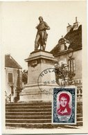 FRANCE CARTE MAXIMUM DU N°869 LAZARE CARNOT OBLITERATION NOLAY 18-9-1950 COTE D'OR - 1950-59