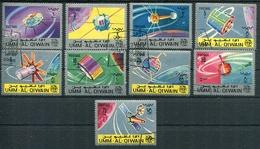ITU INTERNATIONAL TELECOMMUNICATIONS UNION. UMM AL-QIWAIN 1966 MICHEL 78 A / 86 A COMPLETE SERIE OBLITERES - LILHU - Umm Al-Qiwain