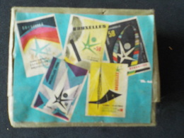 Expo 1958 Paquet Complet 4 Boîtes Allumettes Match Exposition Universelle 58 Bruxelles - Around Cigarettes